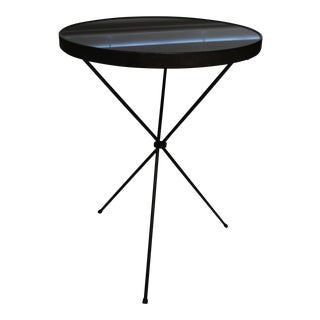 Black Art Deco Accent Table