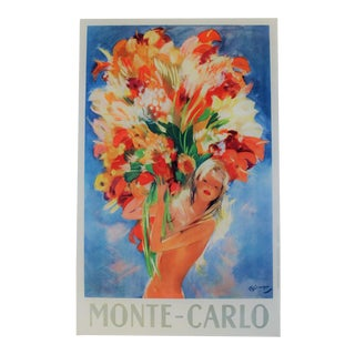 Matted and Framed Vintage Monte-Carlo Travel Poster