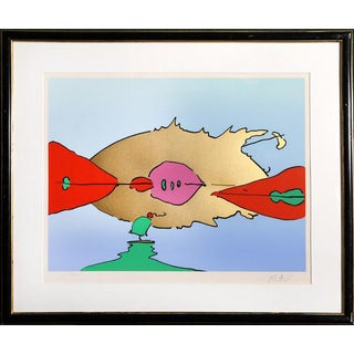 "1978 Peter Max ""Moonscapes Ii"" Print"