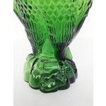 Image of Vintage Green Glass Eagle Decanter