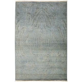 Contemporary Hand Knotted Area Rug - 4' X 6'
