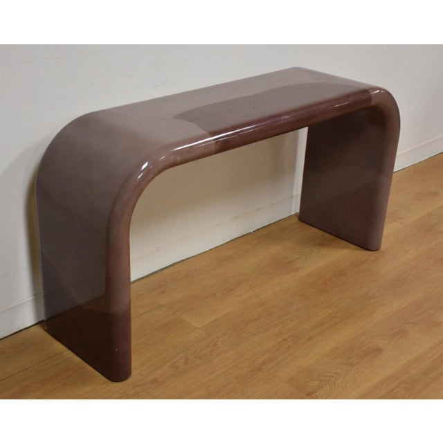 Karl Springer Style Modern Console Table - Image 2 of 10