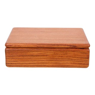Rectangular Teak Jewelry Box