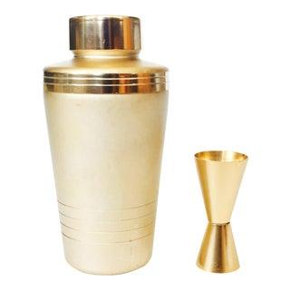 Matte Gold Vintage Mirro Cocktail Shaker Set