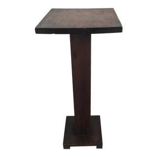 Wooden Pedestal Plant Stand