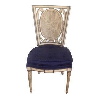 Vintage Cream & Blue Chair