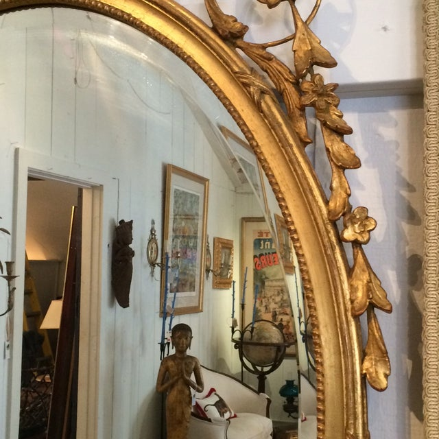 Image of Louis XVI French Gilded Oval Mirror