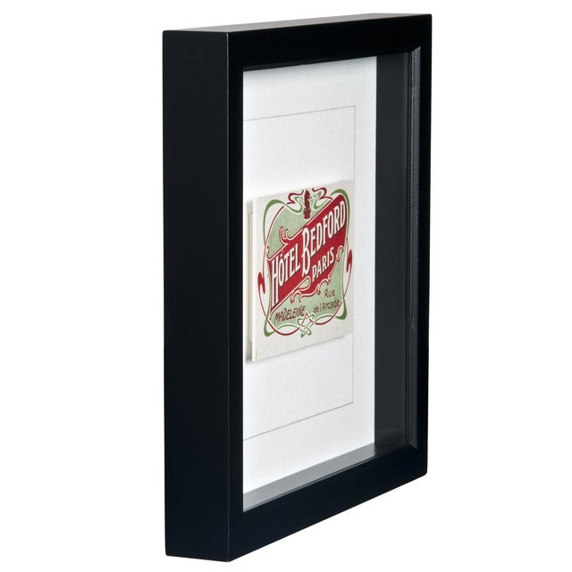 Image of Framed French Bedford Hotel Luggage Label