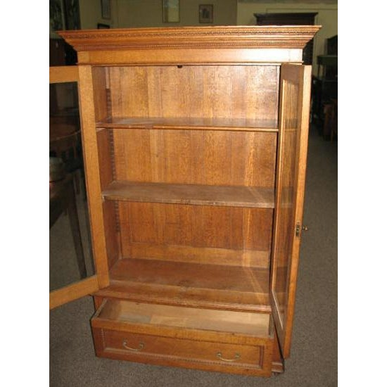 Antique American Oak Bookcase - Image 3 of 7