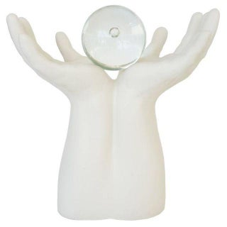 """""""The Future Is in Your Hands"""" Figural Upturned Hands Sculpture"""