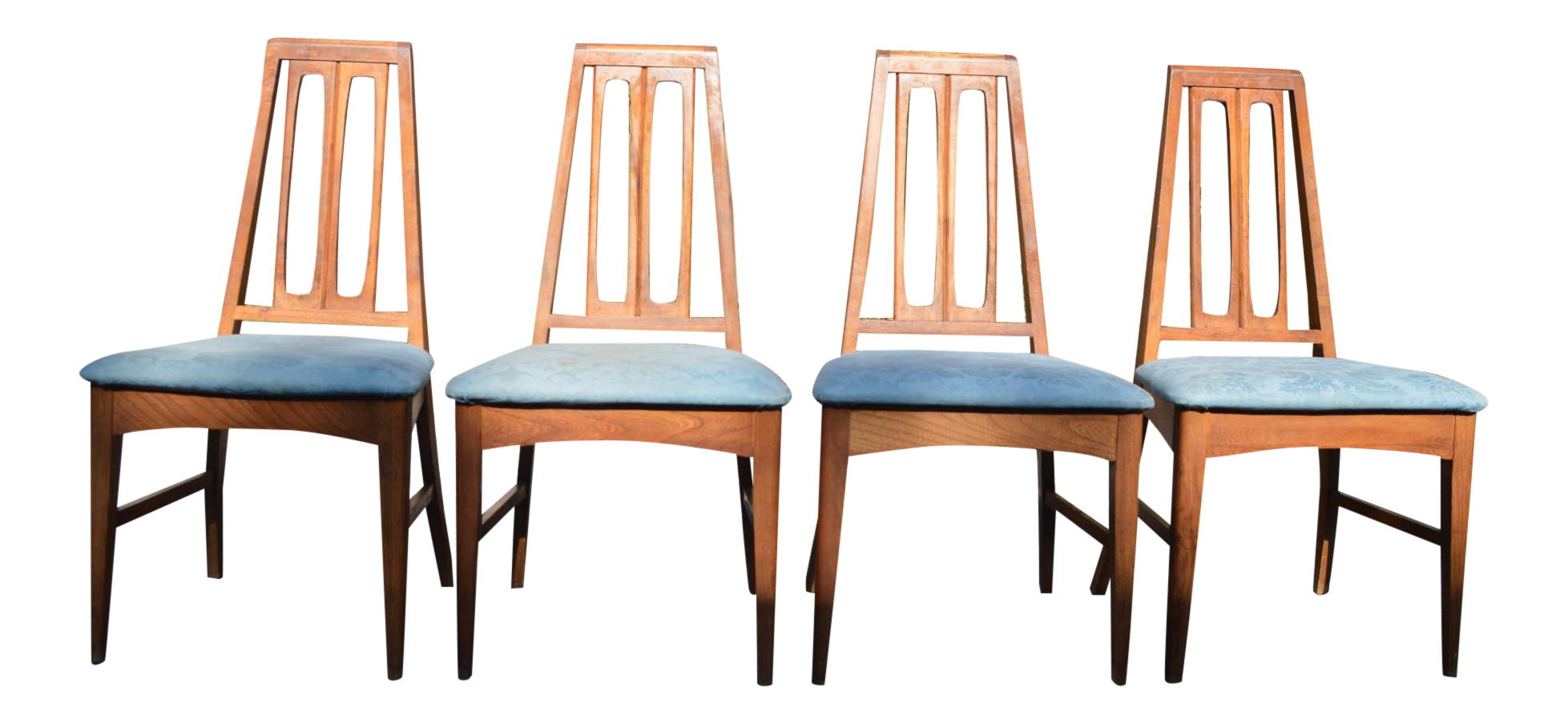 mid century modern dining chairs set of 4 chairish