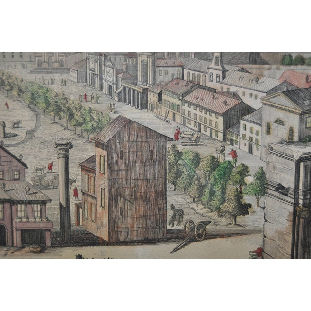 """Antique """"View of Rome"""" Engraving 19th Century - Image 9 of 11"""