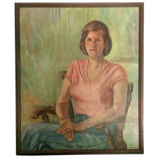 Portrait of a Woman Oil on Canvas 1970s