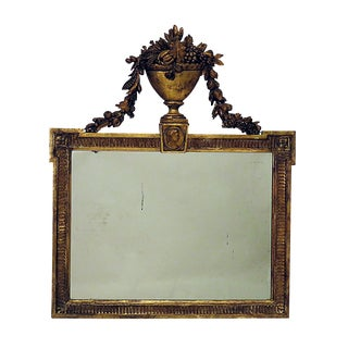 French Gilt Wood Over Mantel Mirror circa 1820