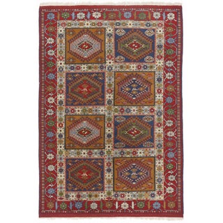 Vintage Hand-Knotted Rug - 4' x 6'