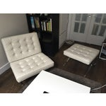 Image of Mid-Century Leather Barcelona Chair And Foot Stool