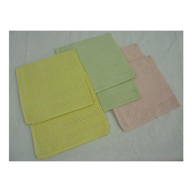 German Pastel Napkins - Set of 6 - Image 2 of 5