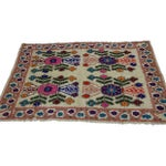 "Image of Handwoven Vibrant Wool Rug - 4'9"" x 7'6"""
