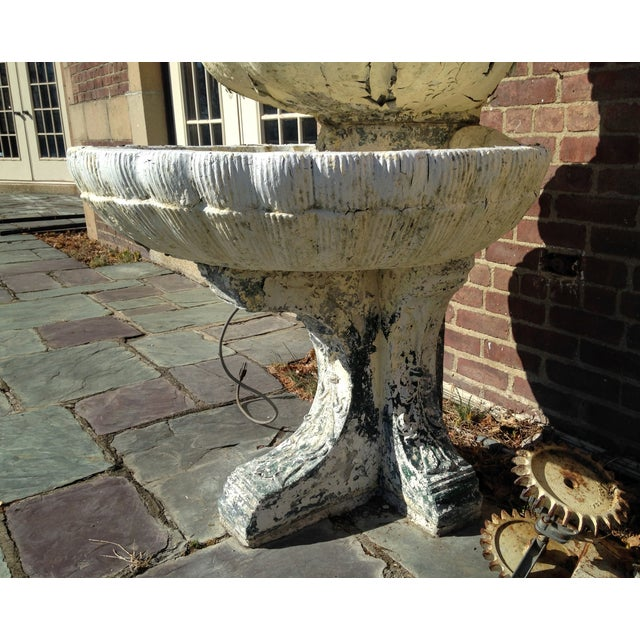 Vintage 1929 Outdoor Garden Fountain - Image 9 of 11