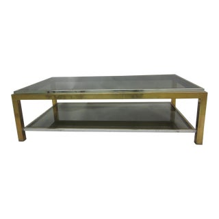 French Double Level Cocktail Table by Maison Charles