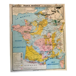 Vintage French Map of France