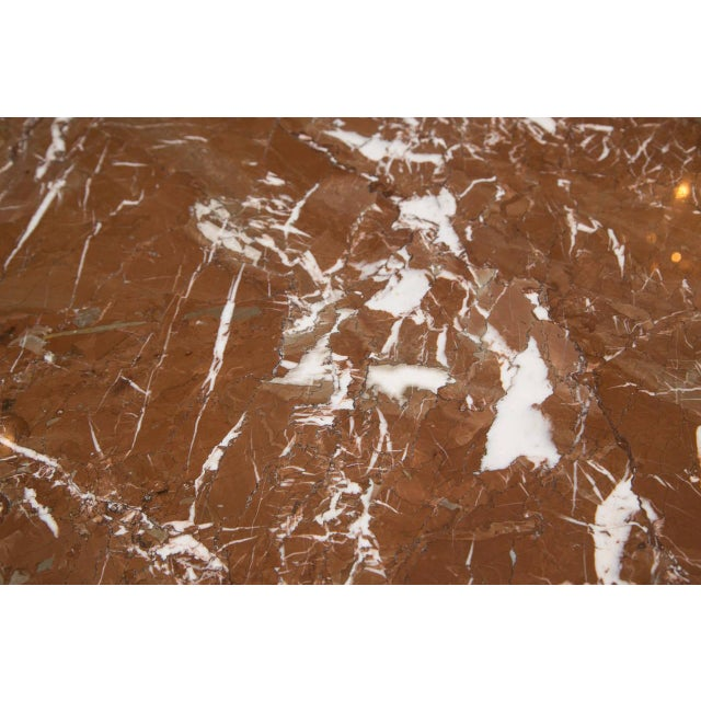 Mid-Century Red Marble Table in Brueton Style - Image 6 of 7