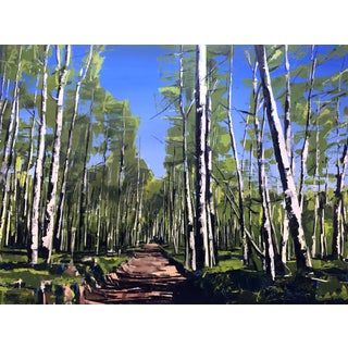 Aspen Forest, Telluride Colorado Painting by David Shingler