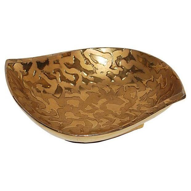 Image of Leaf-Form Gilded Bowl