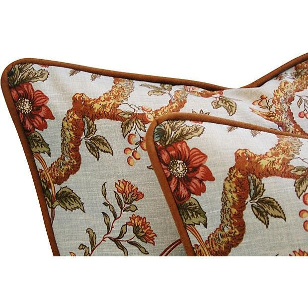 Custom Exotic Chinoiserie Fowl Pillows - Pair - Image 3 of 7