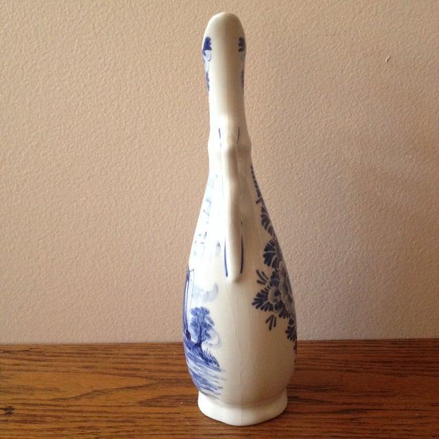 Image of Blue Delft Vintage Floral Vase