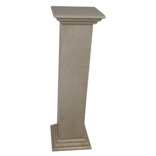 Designer White Travertine Plant Stand