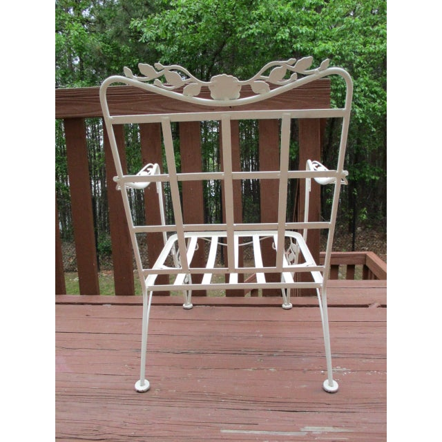 Image of Vintage Russell Woodard Wrought Iron Chairs - Pair