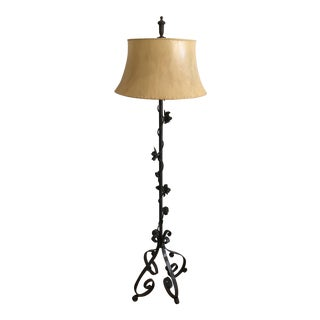Woodard Rose Vined Iron Floor Lamp