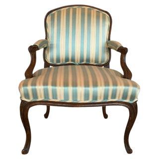 18th C. Louis XV French Walnut Armchair