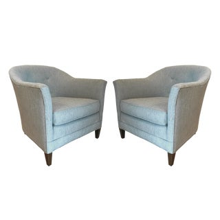 Mid-Century Modern Barrel Back Chairs - A Pair