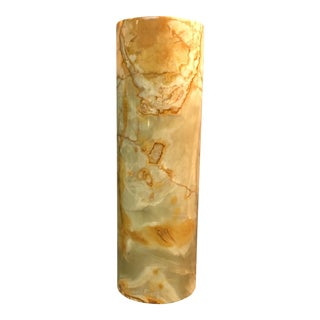 Tall Multi Colored Solid Alabaster Vase