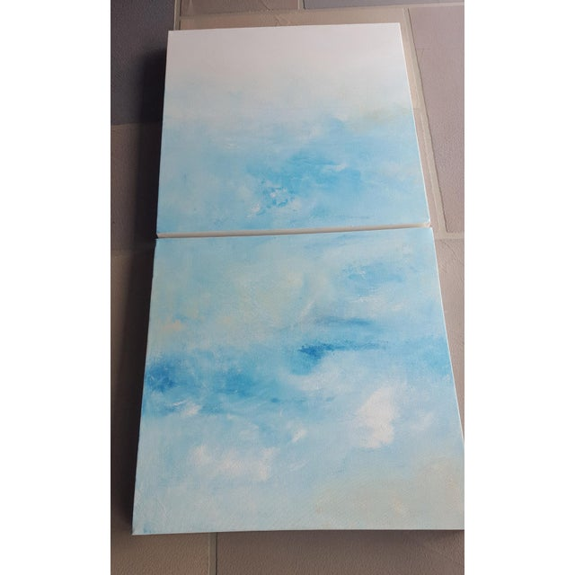 """Image of """"Breeze"""" Original Abstract Diptych - A Pair"""