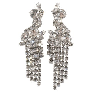 Marie Ferra' Rhinestone Dangle Earrings