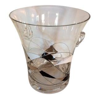 Vintage Romanian Hand Blown Crystal Ice Bucket