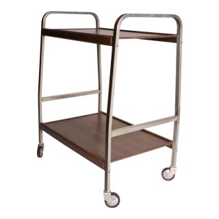 Mid Century Modern Two Tier Rolling Cart