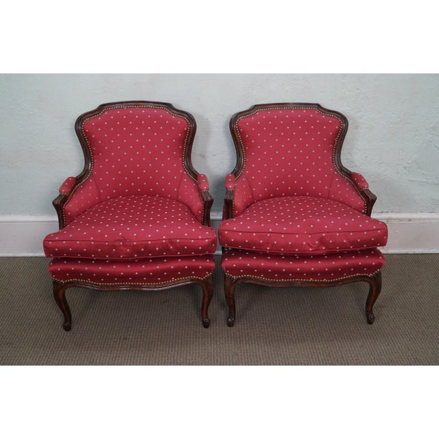 French Louis XV Style Bergere Chairs - A Pair - Image 2 of 10