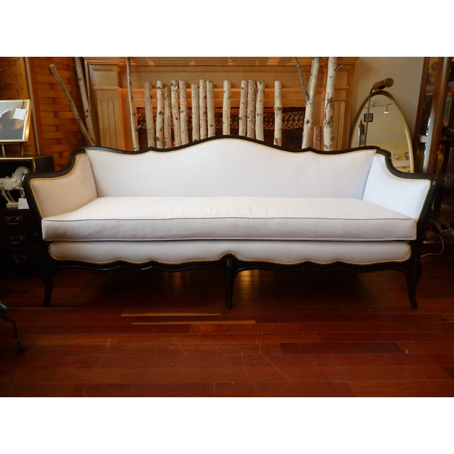 Vintage Sofa In New White Upholstery Chairish