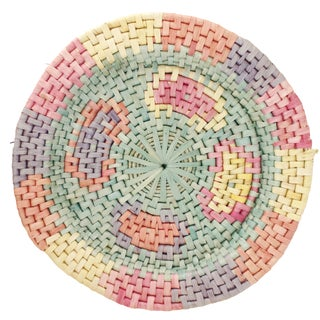 Vintage Candy-Colored Woven Tray