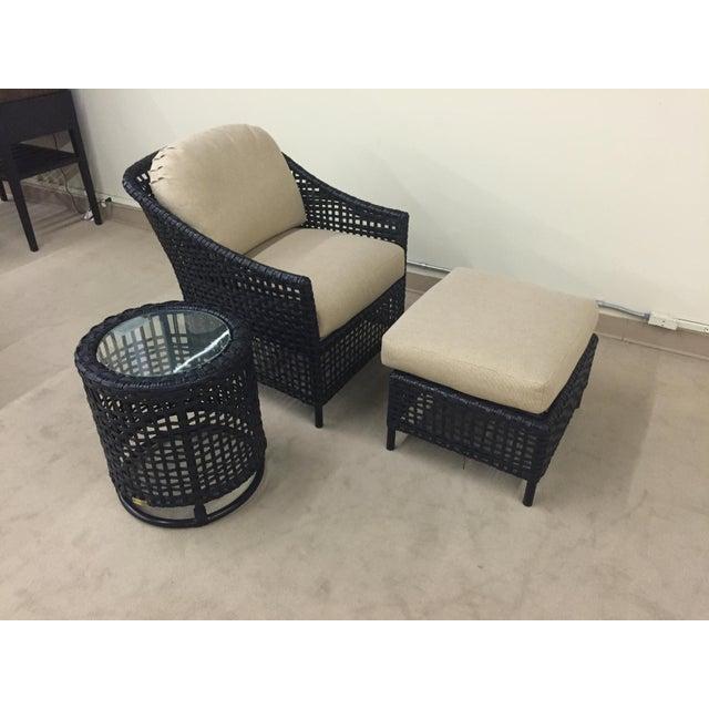 Lane Venture Platinum Chair & Ottoman - Image 7 of 7
