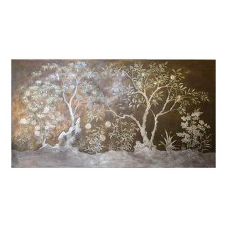 Exquisite and Rare Antique Chinosoureie Painting on Linen Circa 1920 - 10.5 Feet X 5.5 Feet
