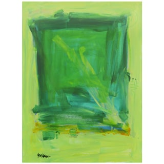 Lime Green & Yellows Painting by Robbie Kemper