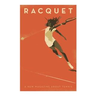 Minimalist Danish Modern Poster, Tennis Racquet