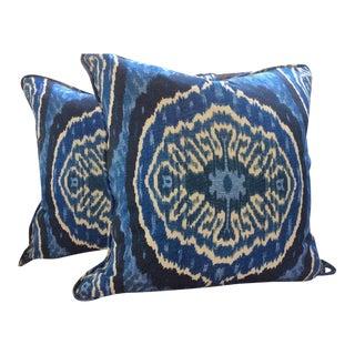 Duralee Masala Denim Pillow Covers - a Pair