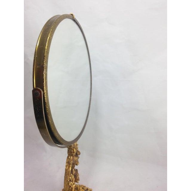 1950s Boudoir Ormolu Vanity Mirror by Matson - Image 3 of 11