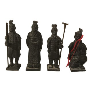 Boxed Qin Dynasty Terracotta Warriors - Set of 4
